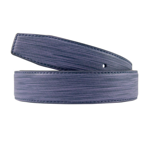 Brushed Leather Blue Belt Strap