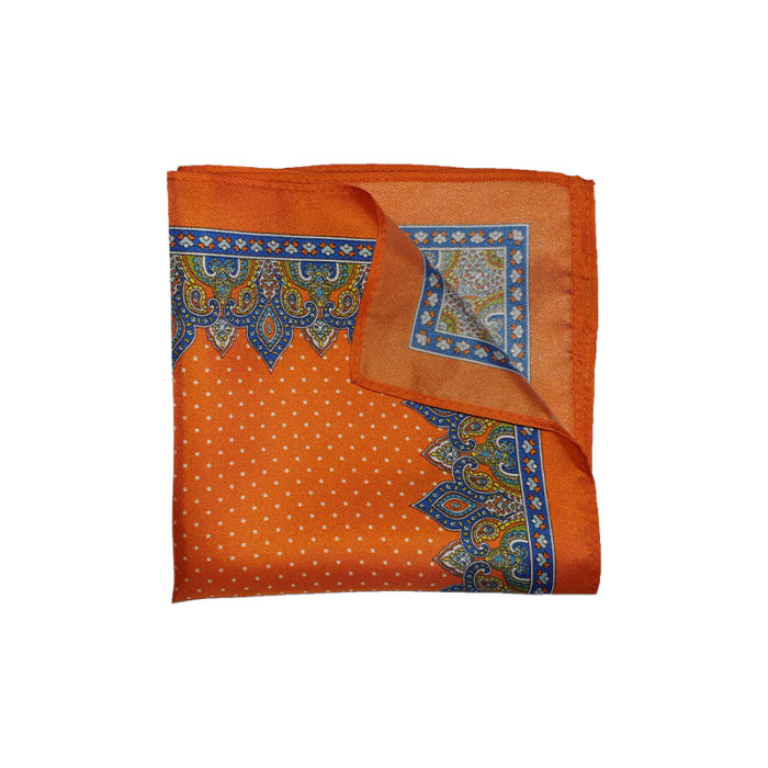 Orange Silk Pocket Square